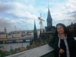 Infront of the old Medieval city Gamla Stan